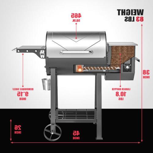 ASMOKE Wood Pellet 8 1 BBQ sq. in. Digital