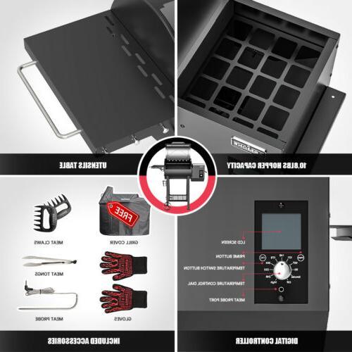 ASMOKE 500℉ Pellet Grill 1 Smoker 465 sq. Digital Control