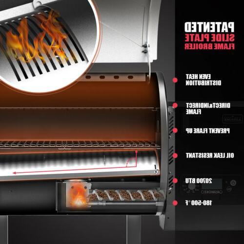 ASMOKE 500℉ Pellet Grill 8 1 465 sq. in. Digital Control