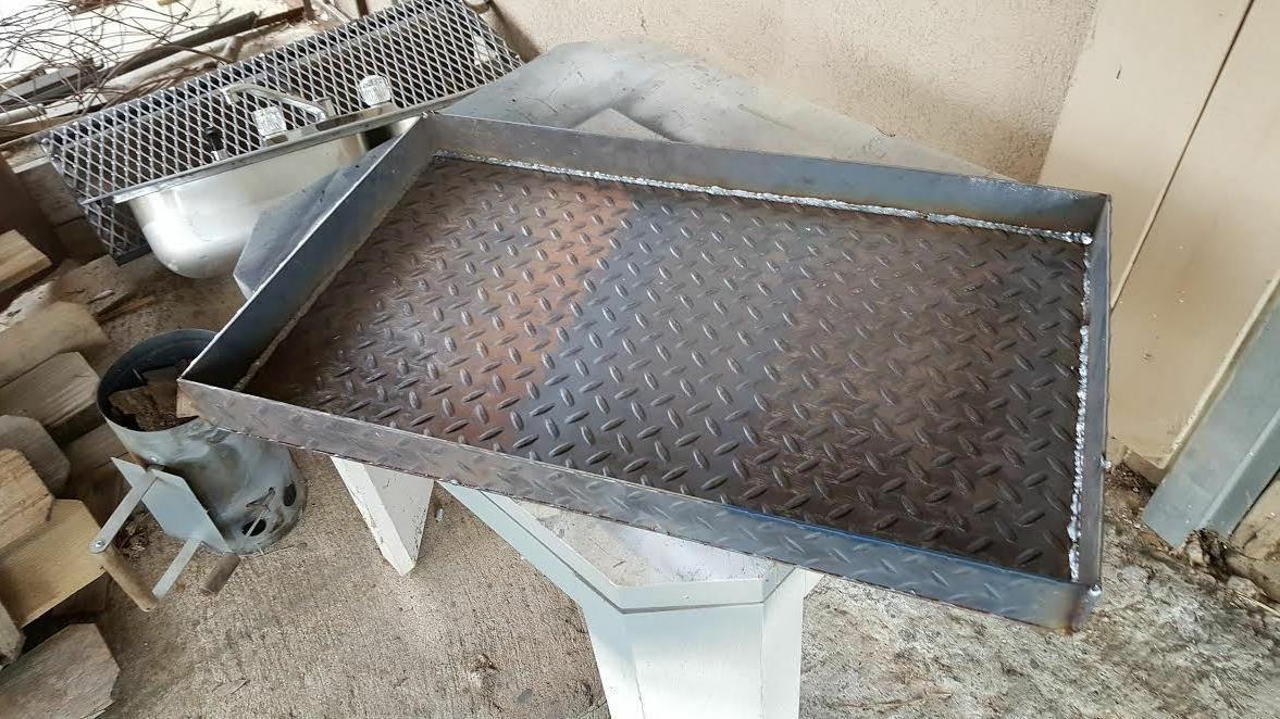 metal 2 inch charcoal ash pan bbq