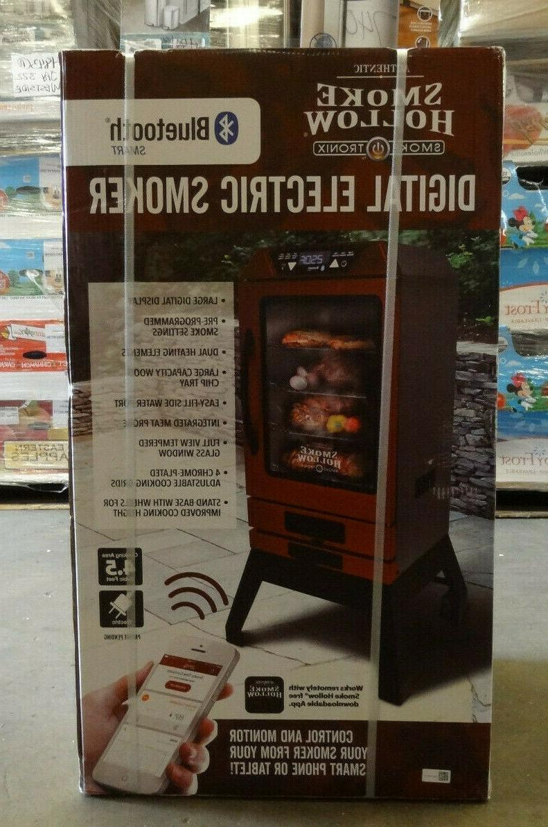 New Smoke 40 in. Digital Electric Bluetooth Smoker with Stand - Red