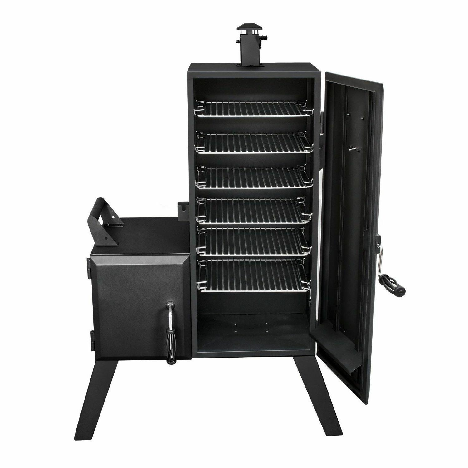 NEW Vertical Offset Charcoal Chips BBQ Grill