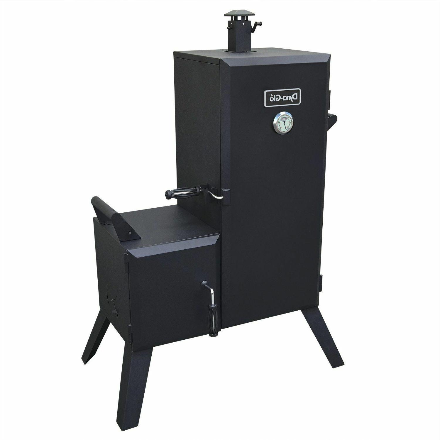 new dyna glo vertical offset charcoal smoker