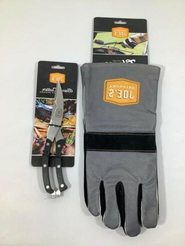 New Joe's Leather Grilling BBQ Gloves Bone FREE SH