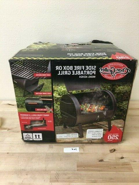 New Portable Char-Griller 250-sq in Black Grill- Model