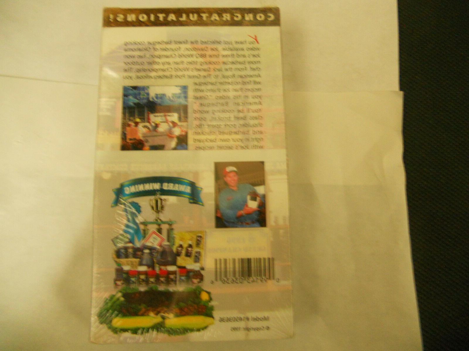 Oklahoma Joe's Great American Barbeque  NEW VHS