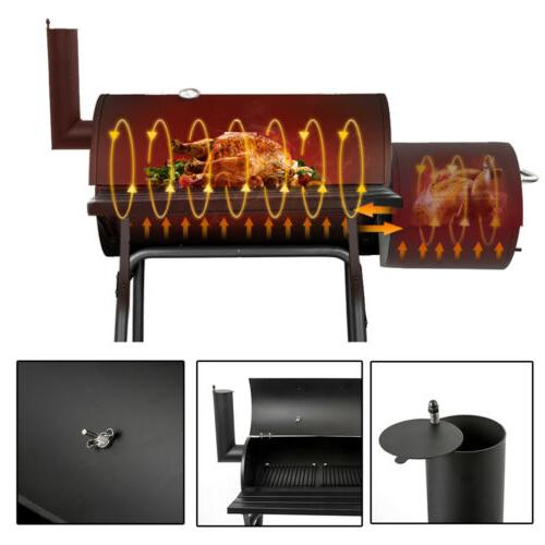 Outdoor BBQ Barbecue Pit Patio Backyard Meat Cooker Smoker