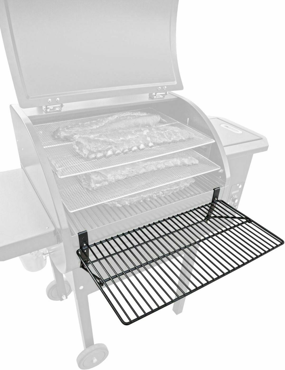 pellet grill smoker front shelf