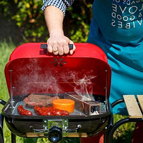 """Carpathen Pellet 12"""" 5 Billowing Cold All Grills Ideal Fish, Beef,"""