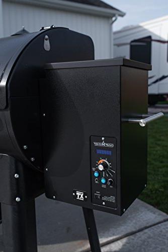 Camp Chef Pro Pellet Digital Controls Temp Probe Smoker Grill, Black