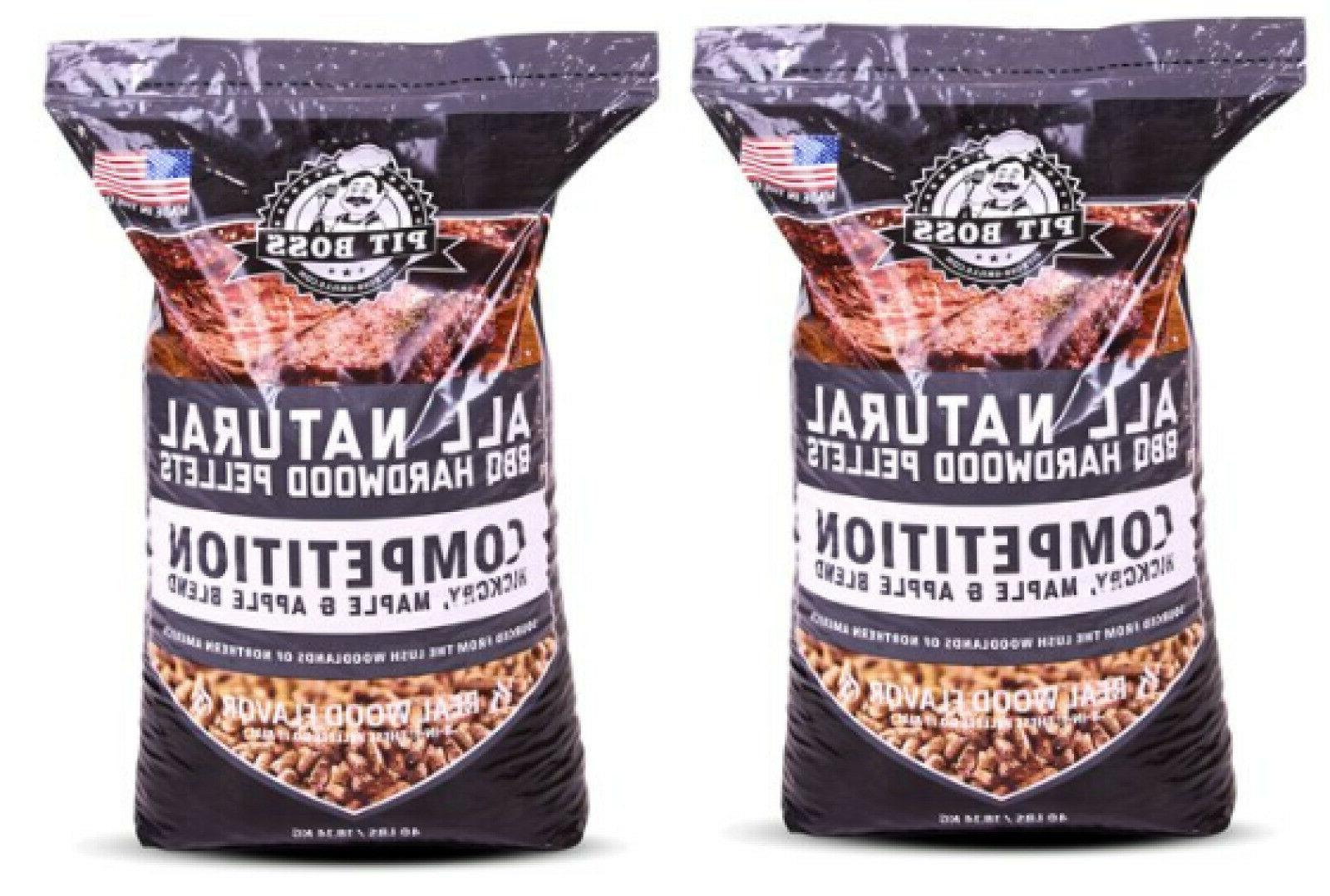Pit Boss 2 Pack Competition Blend 40 lb Wood-Fired Resealabl