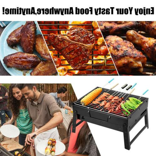 portable small fold barbecue charcoal bbq grill