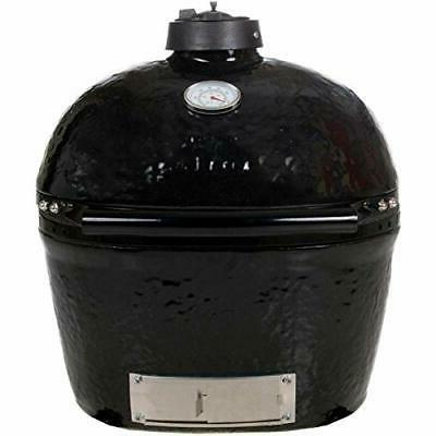 primo 774 ceramic charcoal smoker grill oval