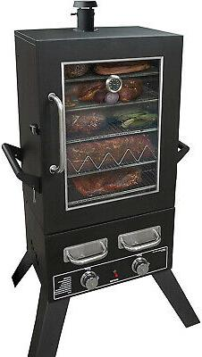 series lp gas smoker viewing