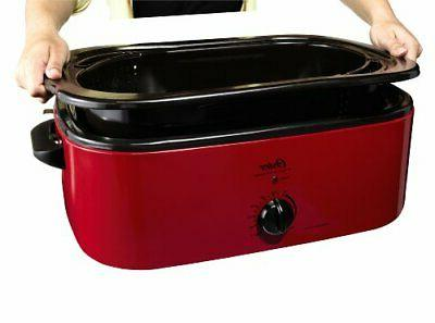 Oster Smoker Oven, 16-Quart, Red