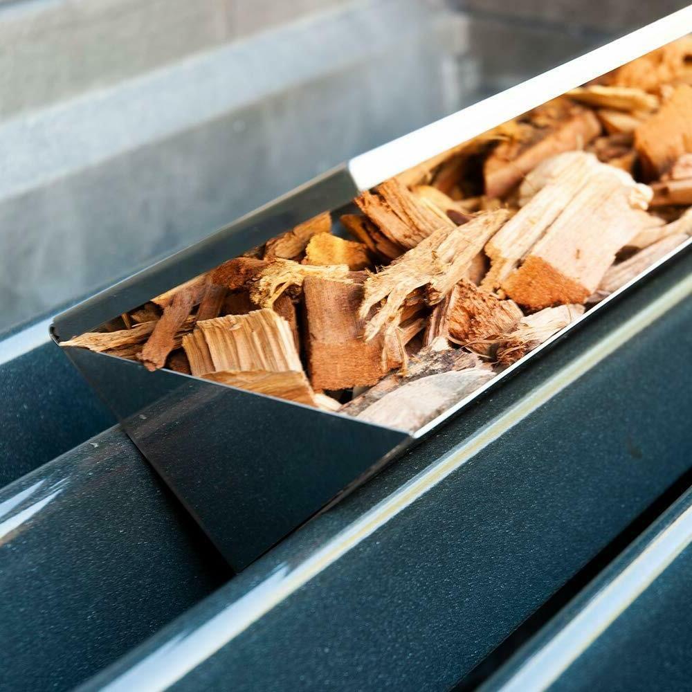 Platinum Gas Grill V-Shape Long Smoker Box