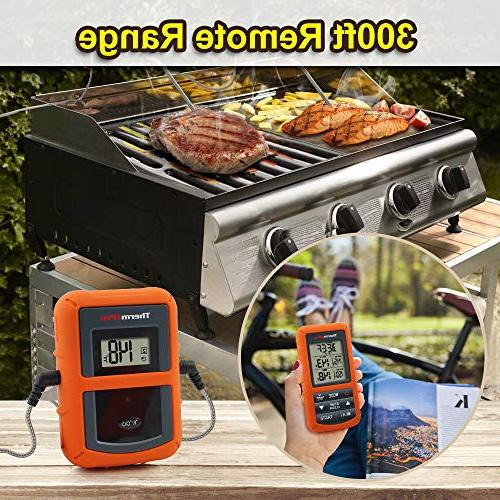 Digital Meat Thermometer with Dual Probe for Smoker Grill BBQ Thermometer