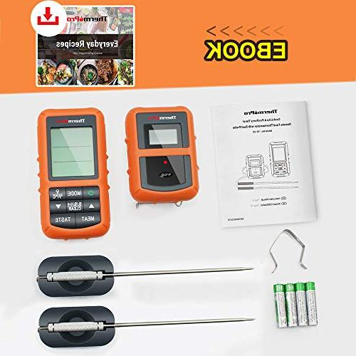 ThermoPro TP20 Wireless Digital Food Meat Thermometer Dual for Smoker Thermometer