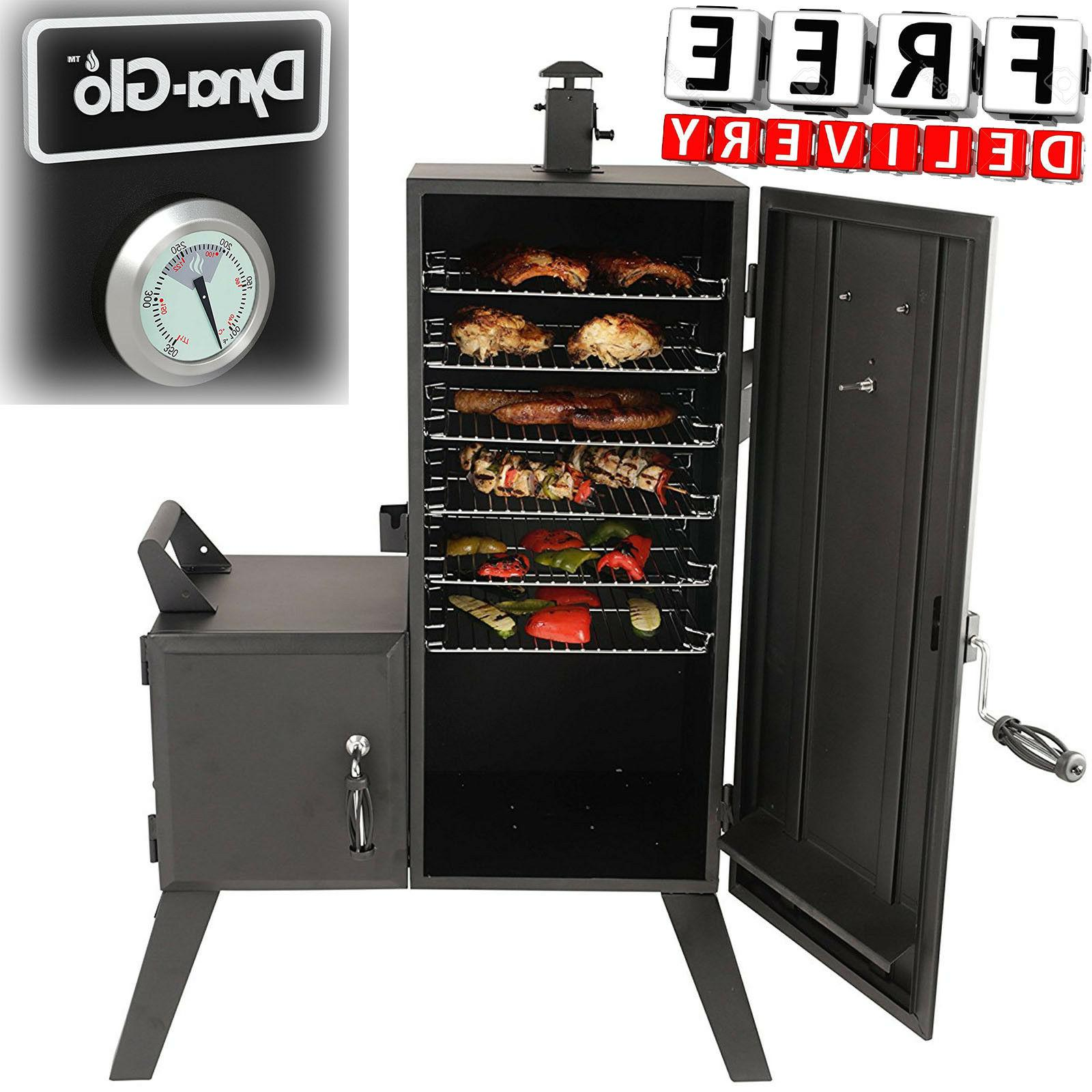 "Vertical Charcoal Offset Smoker 36"" BBQ Barbecue Party Cooki"