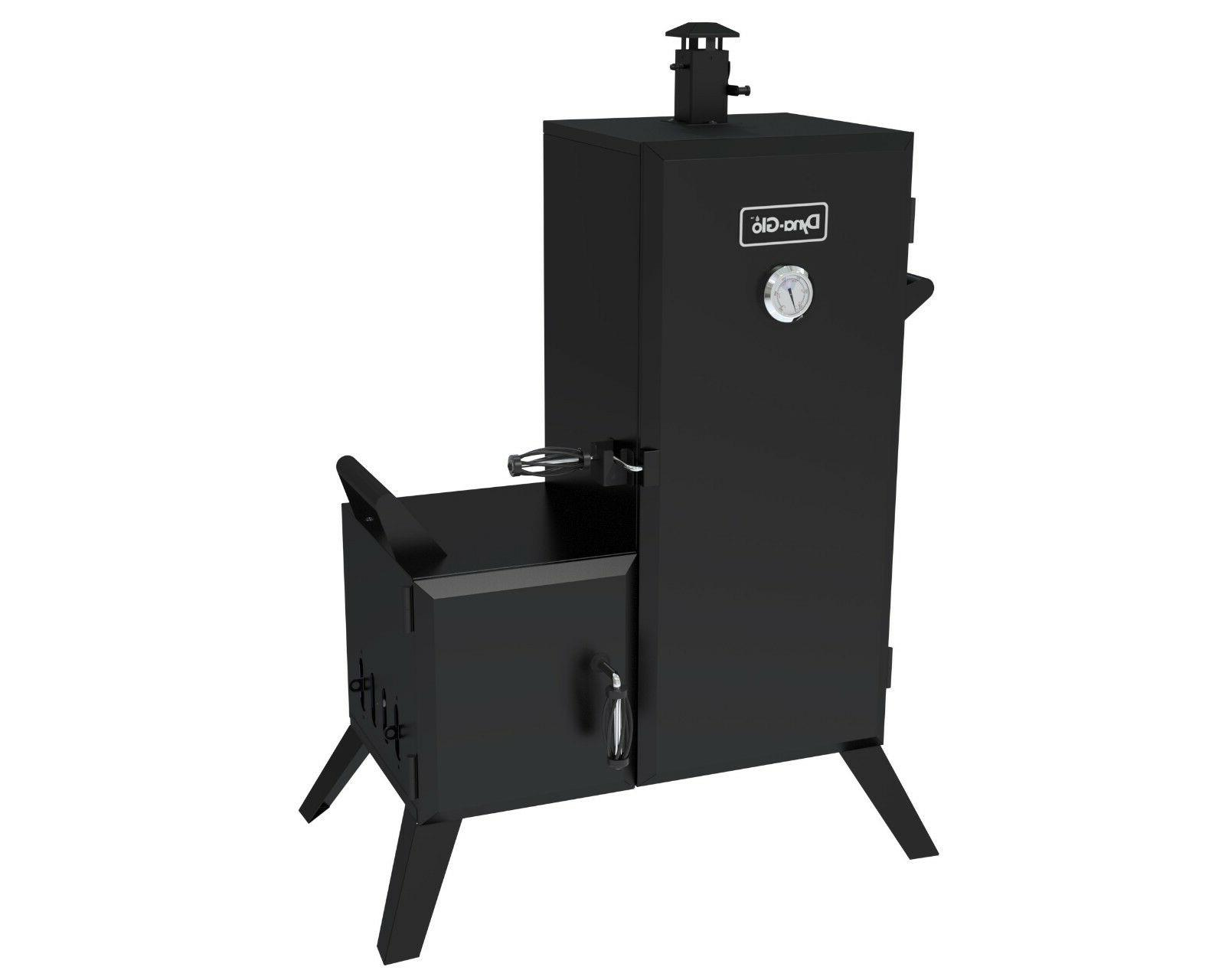 vertical charcoal offset smoker outdoor cooking barbecue