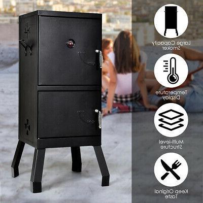Vertical Smoker Gauge Black