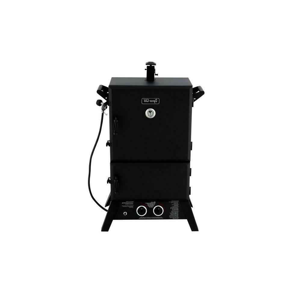 Gas Smoker Cylinder Electronic Ignition Vertical Outdoor Coo
