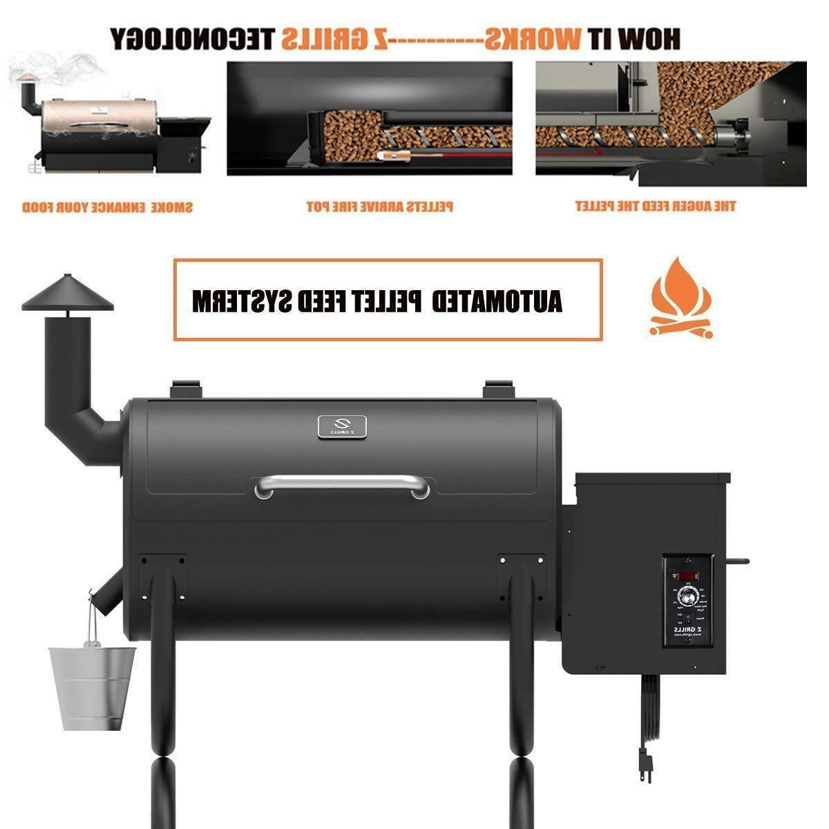 Wood Pellet BBQ Grill and Smoker BBQ w/Digital Controls Outd