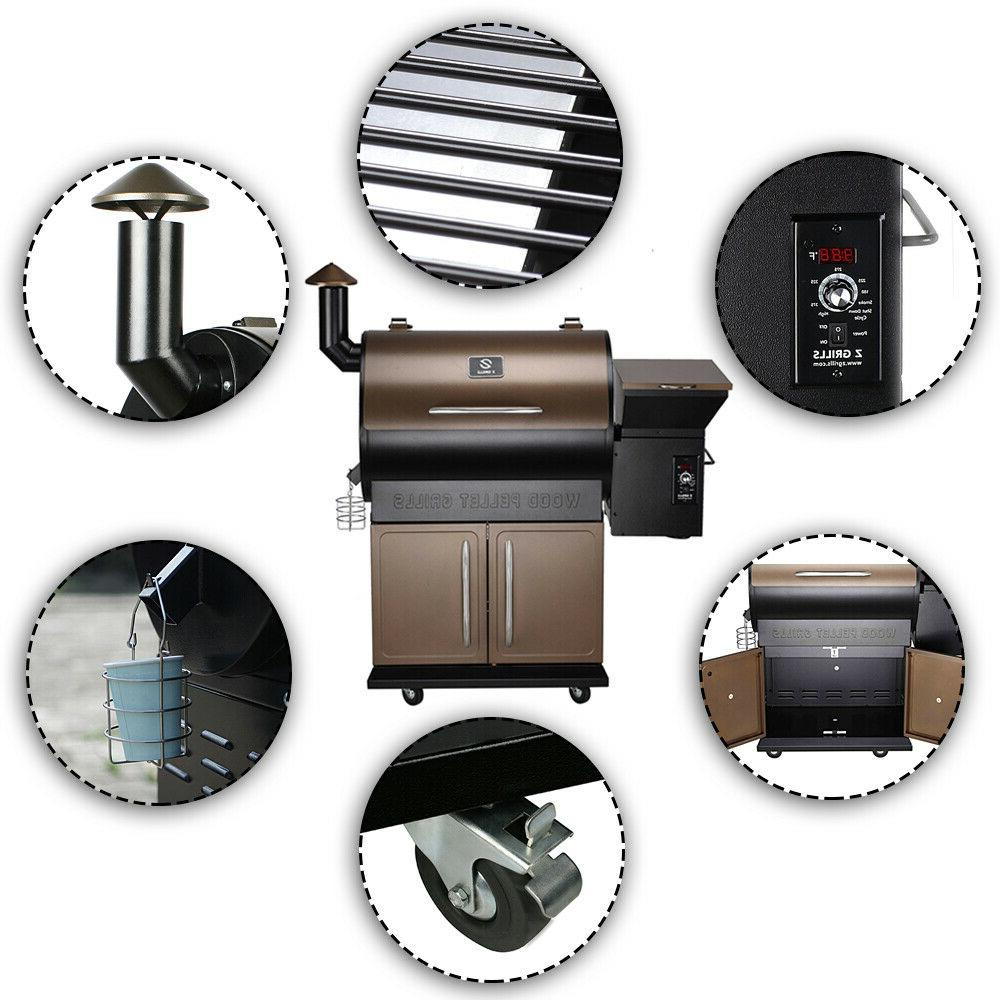 Z GRILLS Pellet Grill BBQ Control Free Cover ZPG-700D