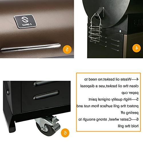 Z Grill & with Patio Cover,700 Cooking 7 1- Smoke, Roast, Braise and BBQ with Electric Digital