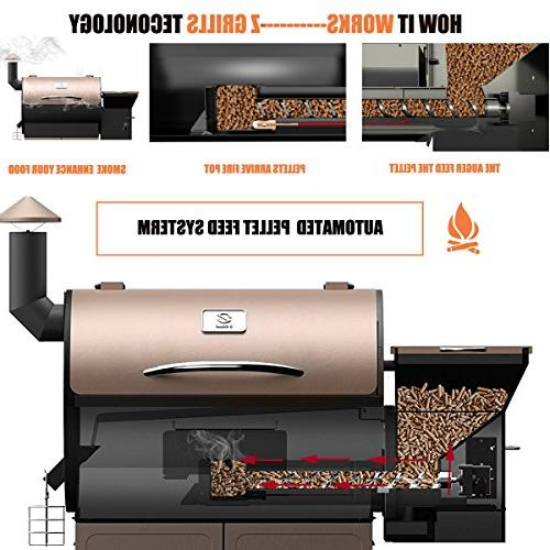 Z Grill Patio Cover,700 7 in Smoke, Bake, Roast, Braise and with Digital for