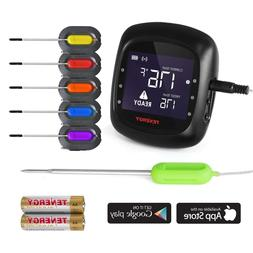 Tenergy LCD Digital Meat Thermometer/Probe For Smoker Grill