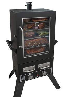 LP Gas Smoker Grill Window Barbecue BBQ Large Outdoor Uprigh