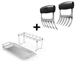 Meat Claws - STAINLESS STEEL PULLED PORK SHREDDERS + Chicken