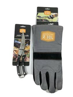 New Oklahoma Joe's Leather Grilling BBQ Gloves & Bone Cutter