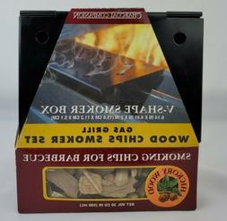 New Charcoal Companion V-Shape Smoker Box Wood Chips Smoker
