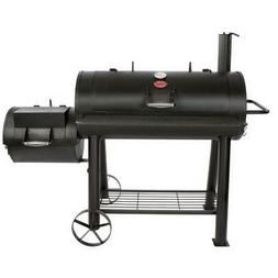 Offset Charcoal / Wood Smoker Free Standing W/ Shelf Outdoor