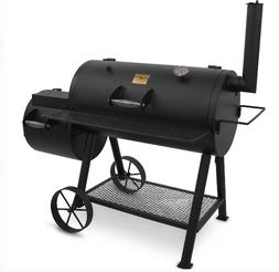 Outdoor Charcoal Offset Wood Smoker BBQ Pit Wood Chips Backy