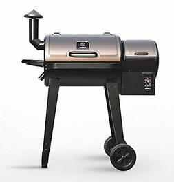 Outdoor Cooking Wood Pellet BBQ Grill & Smoker with Digital