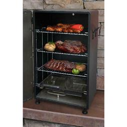 Outdoor Electric Food Smoker Black Heavy Duty Steel Patio Ga