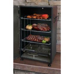 Outdoor Electric Food Smoker Black Heavy Duty Steel Patio Ga