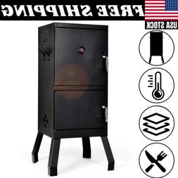 outdoor vertical charcoal smoker bbq barbecue grill