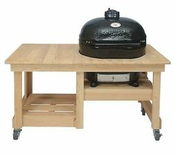 Primo Oval XL 400 Ceramic Smoker Grill On Cypress Counter To