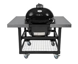 Primo Oval LG 300 Ceramic Smoker Grill On Cart with 2 Piece
