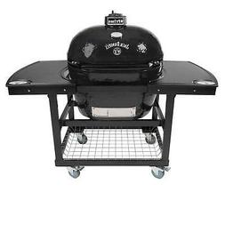 oval xl 400 ceramic smoker grill jack