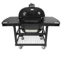 Primo Oval XL 400 Ceramic Smoker Grill On Cart with 2-Piece