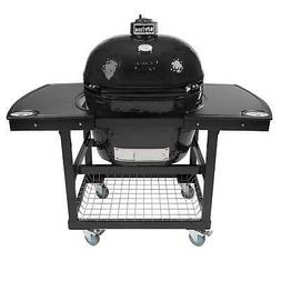 Primo Oval XL 400 Ceramic Smoker Grill On Cart with 1-Piece