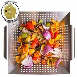 Pan Smoker Grill Basket Wok for Grilling Barbecue Vegetables