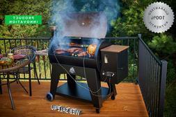 Pellet Grill Smoker Flame Broiler Char BBQ w/ Meat Probe Inn