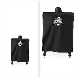 Pellet Smoker Cover Black Heavy Duty Polyester PVC Backing C