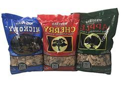 Western Popular BBQ Smoking Wood Chip Variety Pack Bundle  -